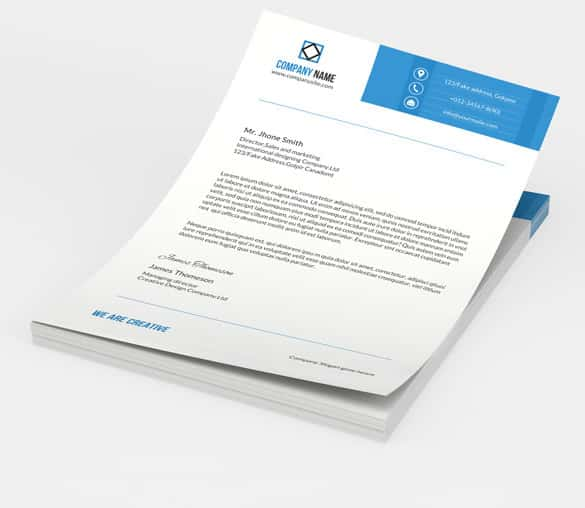 letterhead for sales marketing manager