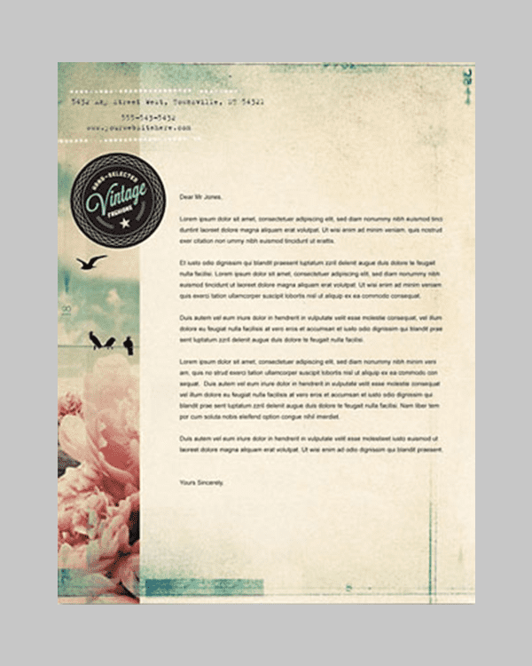vintage clothing business card letterhead template min