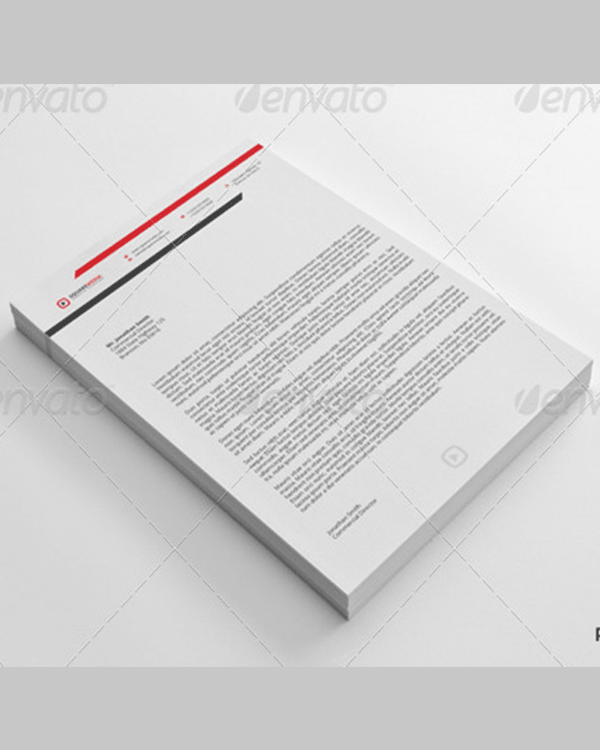 Lovely Corporate Letterhead Vol.1 With MS Word Doc Idea Corporate Word Templates