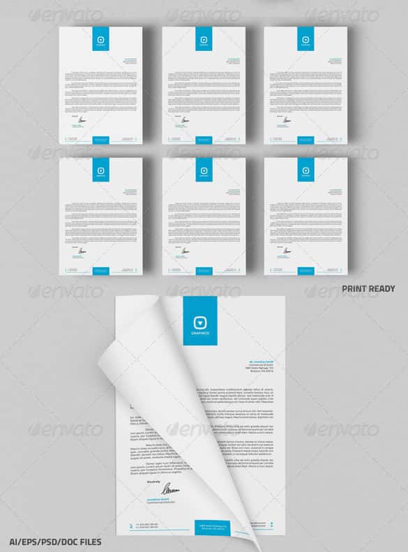 31 Word Letterhead Templates Free Samples Examples Format – Free Business Letterhead Templates for Word