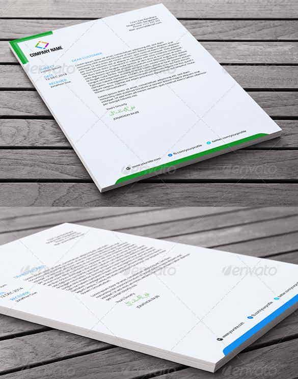 slim letterhead template in word document min