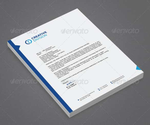 sales director letterhead template min