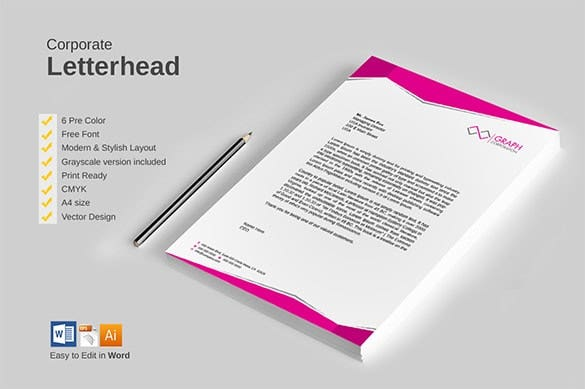 32 Word Letterhead Templates Free Samples Examples Format – Business Letterhead