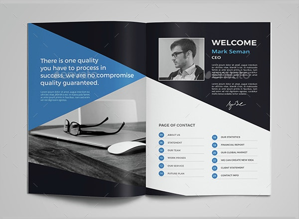 Corporate Advertising Brochure Template