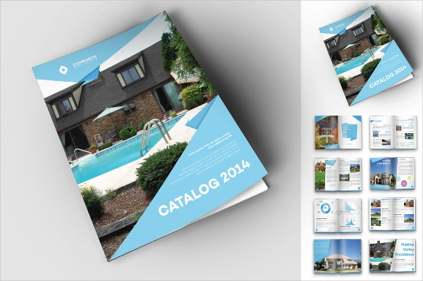 real estate travel advertising brochure template