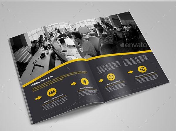 unique advertising brochure template