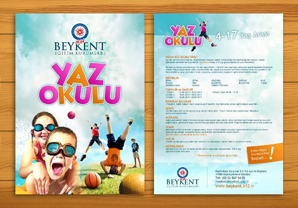 Kids Advertising Brochure Template