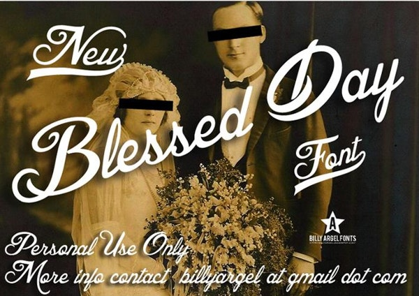 blessed day font2