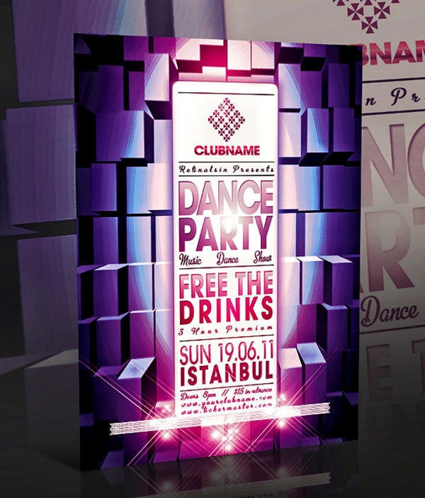 psd dance party poster1