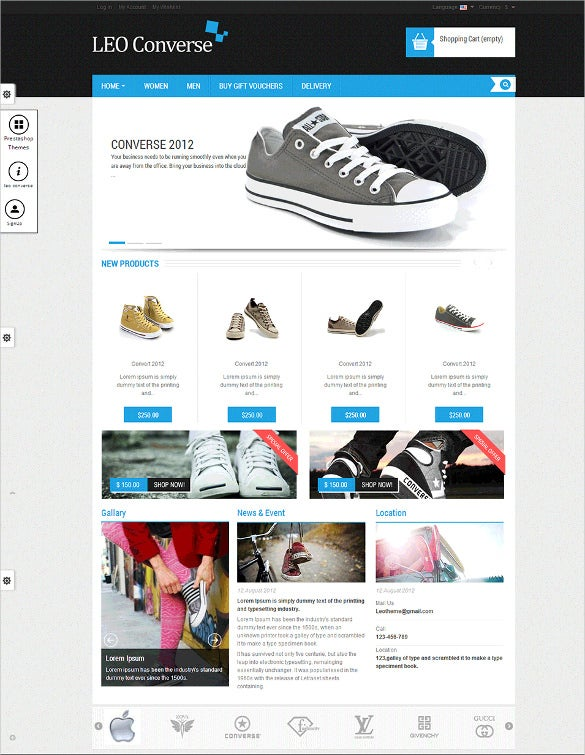 12 best free prestashop website templates themes free for Presta shop templates
