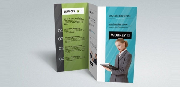 corporate tri fold brochure template download