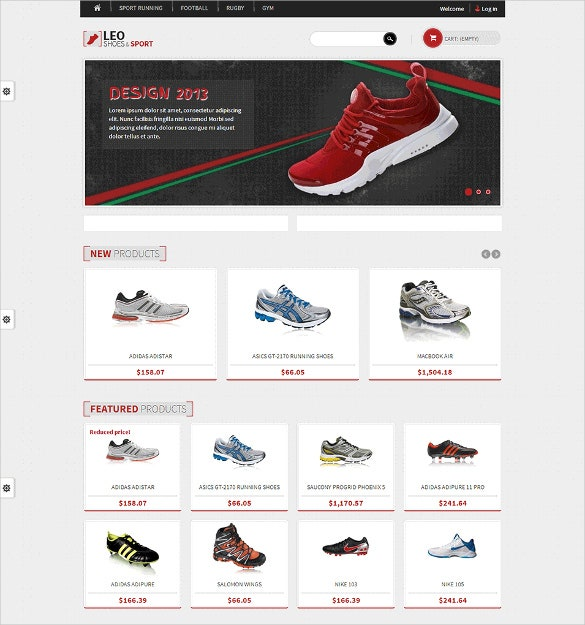 sport shoes shop prestashop free template