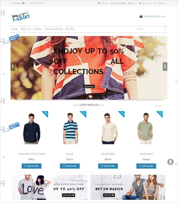 tshirts online store prestashop theme1