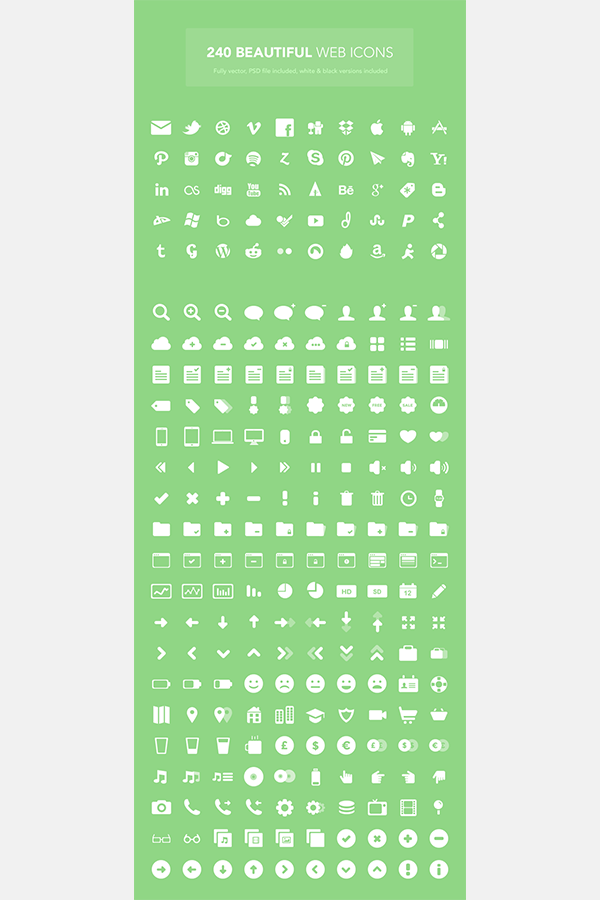240 Beautiful Web Icons