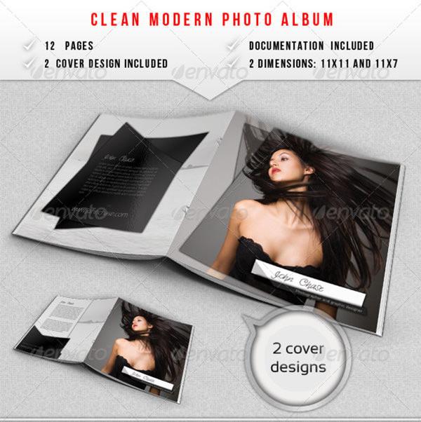 clean modern photo album
