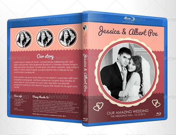 retro wedding album cover design