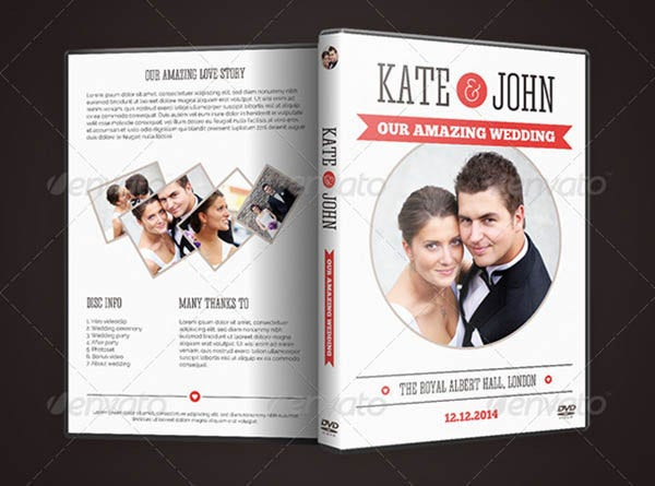 wedding dvd cover design