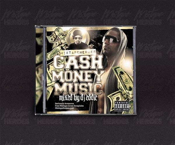 hip hop cd cover template1