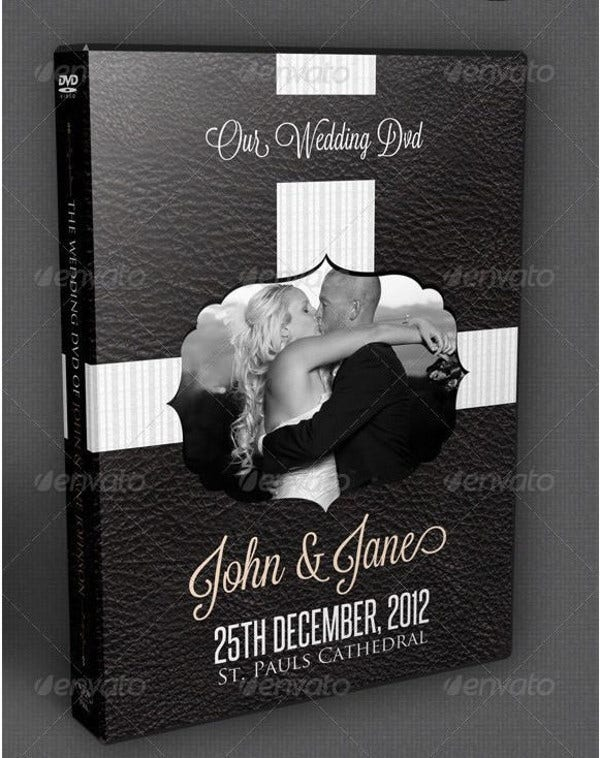 dark vintage wedding dvd cover template1