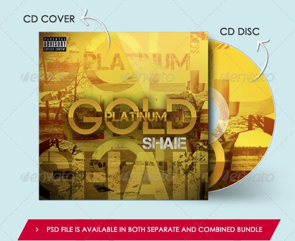 cd cover disc mockup template