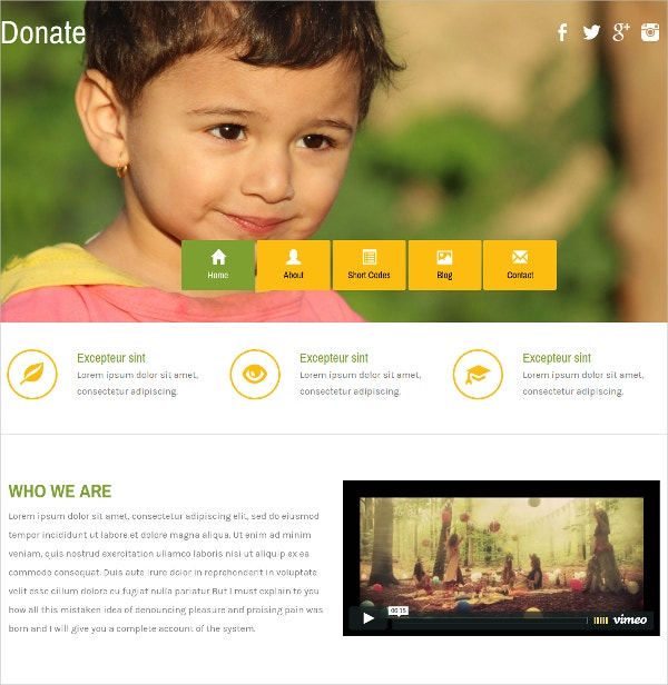 Free Charity Html Template