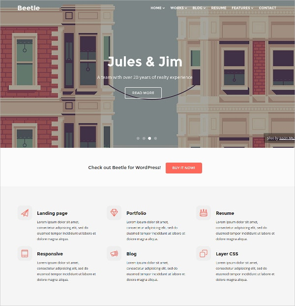 free responsive parallax html theme for designers
