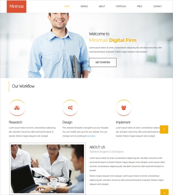 Free Digital Firm HTML Theme
