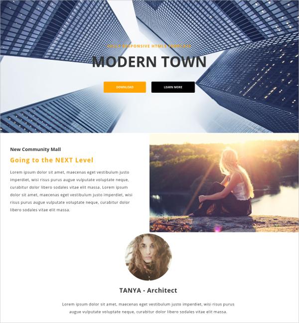 Free Modern Responsive HTML Theme