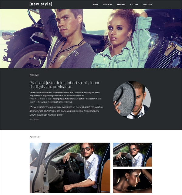 New Style Blog Responsive jQuery Website Template $48