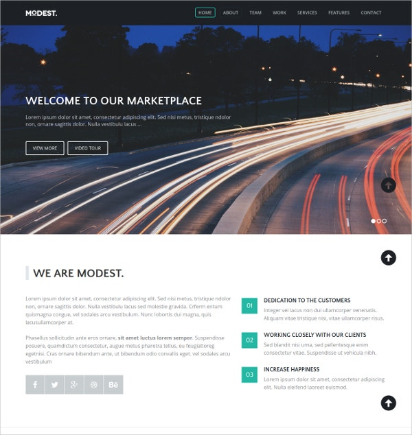 Responsive jQuery Landing Page Business Theme $6