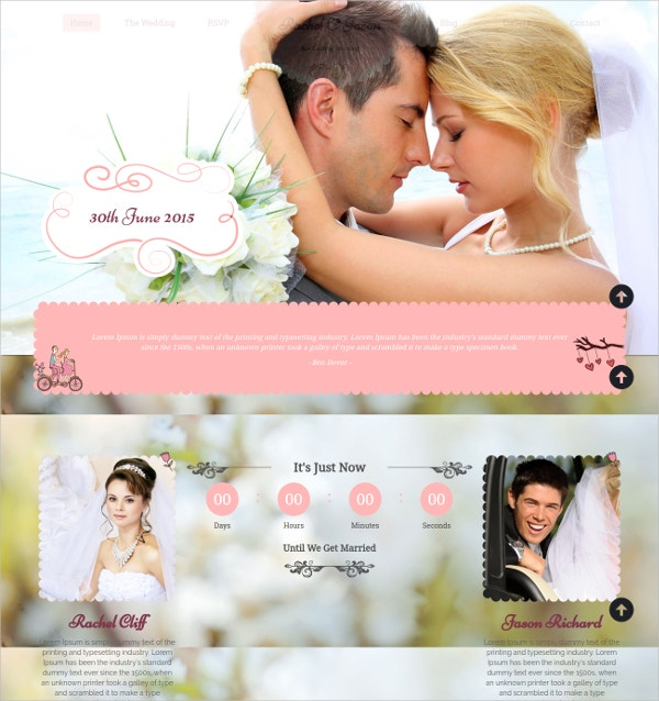 Wedding Event WP jQuery Theme $39