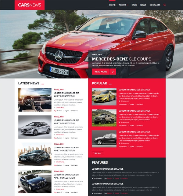 Car News Joomla Blog Template $41