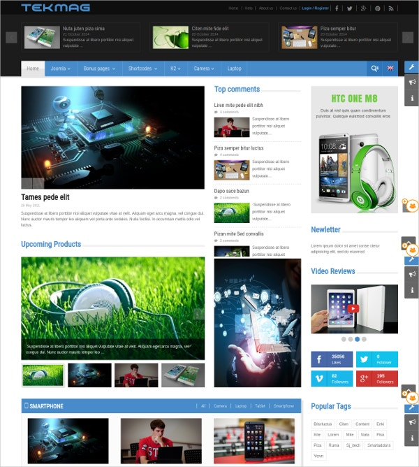 Technology News Joomla Blog Template $48