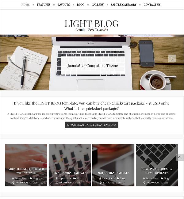 Free Responsive News Joomla Blog Template
