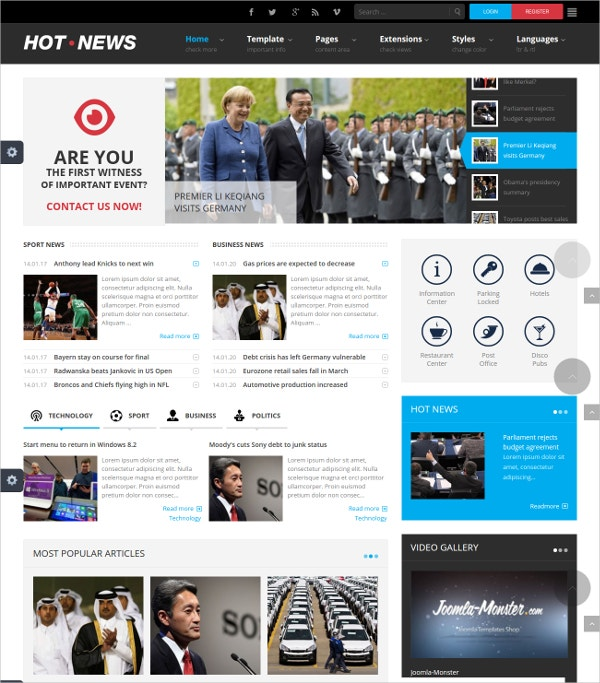 amazing news joomla blog template