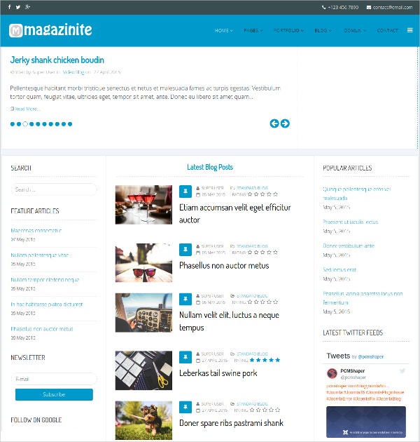 Blog & Magazine Joomla Template