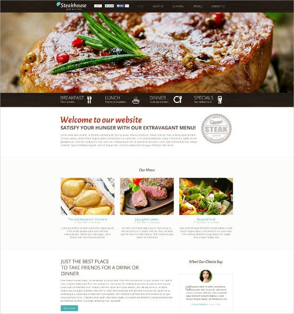Tasty Food Restaurant Flash CMS Template $69