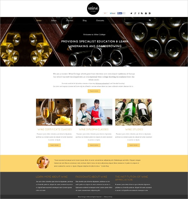 Wine Making Flash CMS Template $69