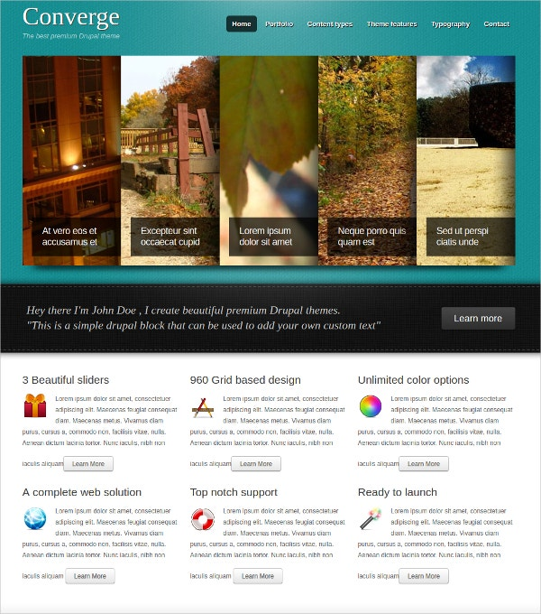 Premium Flash Portfolio Drupal Theme $58