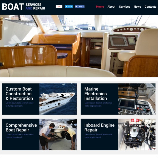 Free Boat Services Flash Theme