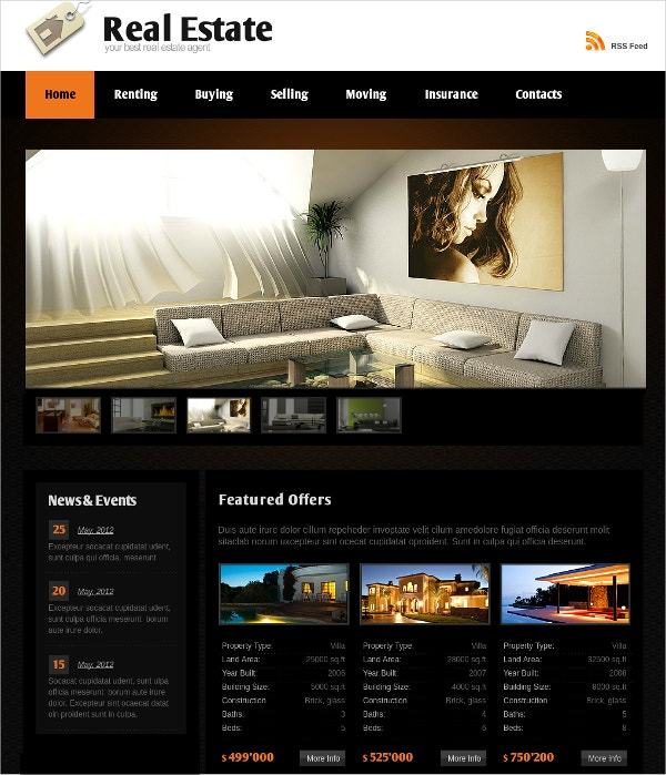 Real Estate Flash CMS Theme $22