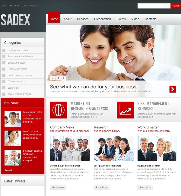Flash CMS Theme for Business $230