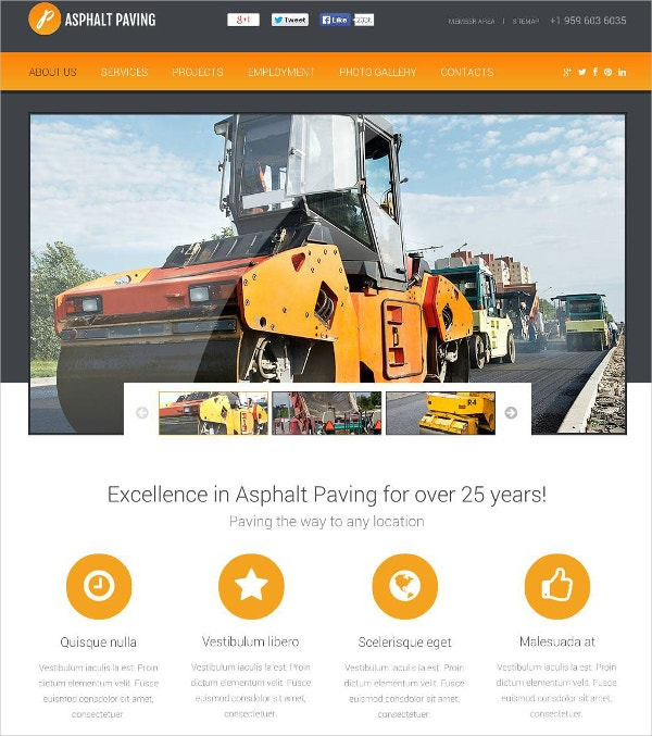 Excellent Industrial Flash CMS Template $69