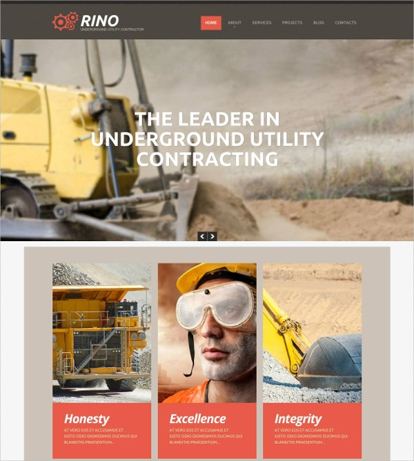 mining company business flash cms template 69