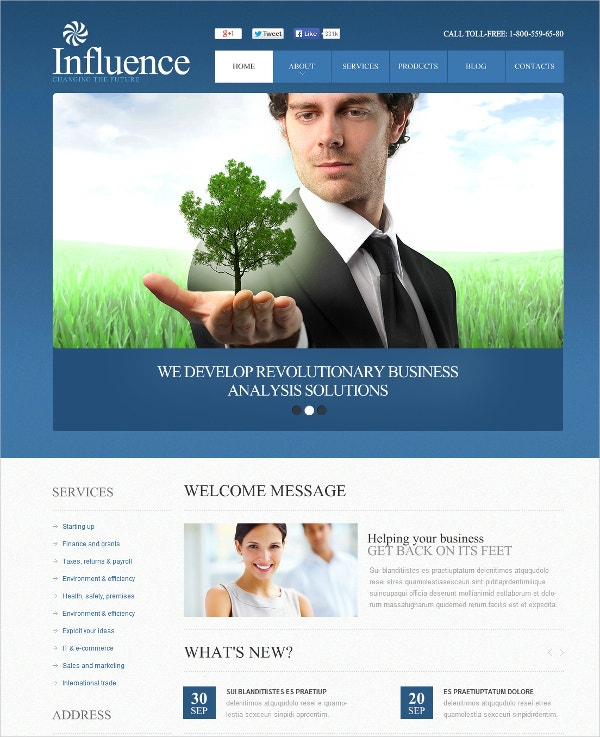 Management Services Business Flash CMS Template $69