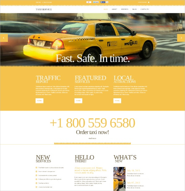 Taxi Business Flash CMS Template $69