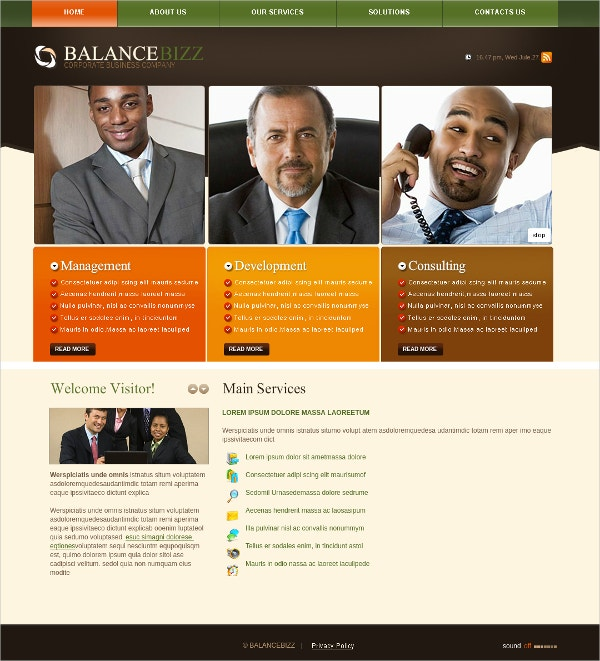 Perfect Business Plan Flash CMS Theme $42