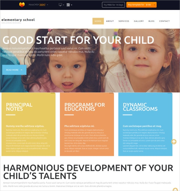 Childern Education Flash CMS Theme