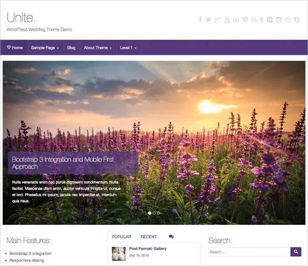 free wedding ecommerce website theme