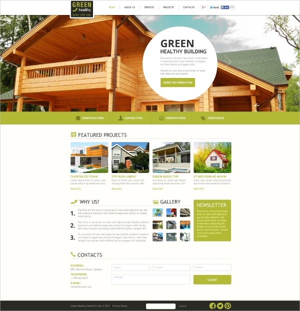 Architecture Building Flash CMS Template $69